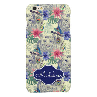 Vintage Indian Style Tiger Pattern | Add Your Name iPhone 6 Plus Case