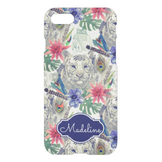 Vintage Indian Style Tiger Pattern   Add Your Name iPhone 7 Case