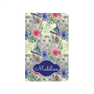 Vintage Indian Style Tiger Pattern | Add Your Name Journal