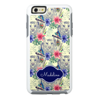 Vintage Indian Style Tiger Pattern | Add Your Name OtterBox iPhone 6/6s Plus Case
