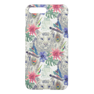 Vintage Indian Style Tiger Pattern iPhone 8 Plus/7 Plus Case