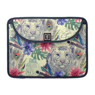 Vintage Indian Style Tiger Pattern MacBook Pro Sleeve
