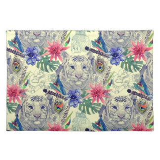 Vintage Indian Style Tiger Pattern Placemat