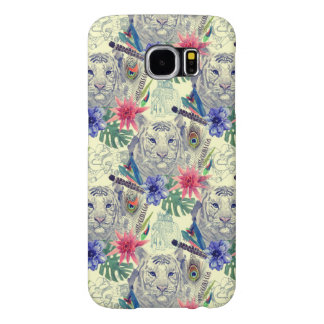 Vintage Indian Style Tiger Pattern Samsung Galaxy S6 Cases