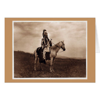 Vintage Indian War Chief Greeting Cards
