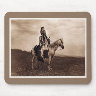 Vintage Indian War Chief on Horseback Mouse Mat