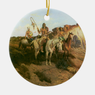 Vintage Indians, Prowlers of the Prairie, Seltzer, Christmas Ornament