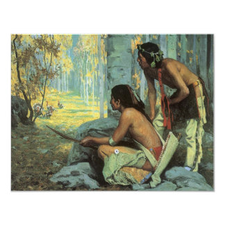 Vintage Indians, Taos Turkey Hunters by Couse Card