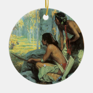 Vintage Indians, Taos Turkey Hunters by Couse Christmas Ornament