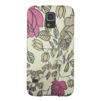 Vintage Indie Rose-print phone covers Cases For Galaxy S5