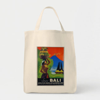 Vintage Indonesia Bali Travel Poster