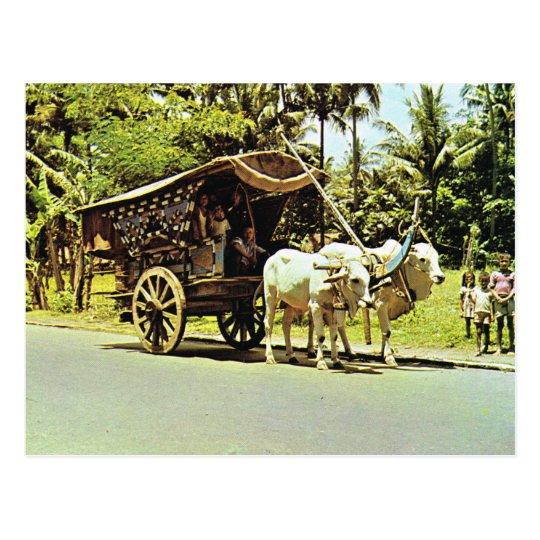 Vintage Indonesia, Gerobag, central Java Postcard
