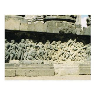 Vintage Indonesia,Ramayana carving, Prambanan Postcard
