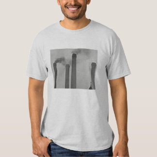 Vintage Industrial Steam Punk Smoke Stack T Shirt