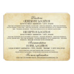 Vintage Information Cards | Rustic Elegance 11 Cm X 16 Cm Invitation Card
