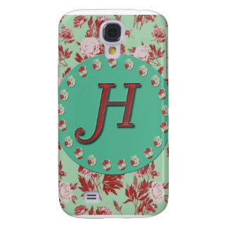 Vintage Initial H Galaxy S4 Case