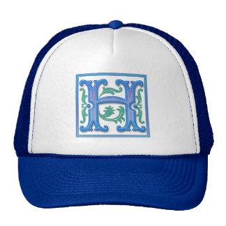 Vintage Initial H - Monogram H Hats