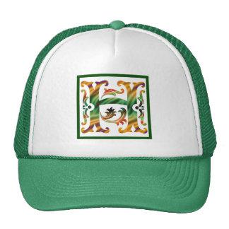 Vintage Initial H- Monogram H Mesh Hat