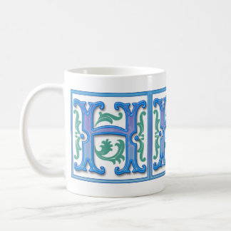 Vintage Initial H - Monogram H Mug