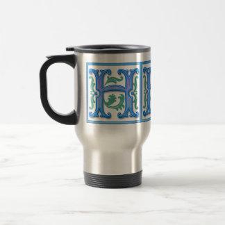 Vintage Initial H - Monogram H Coffee Mug