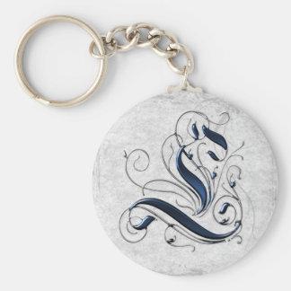 Vintage Initial L Keychain