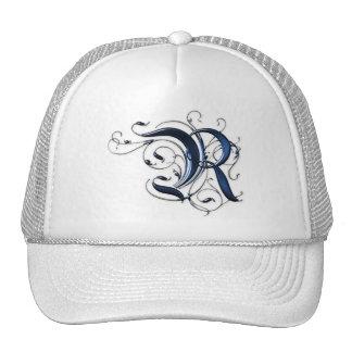 Vintage Initial R Mesh Hats