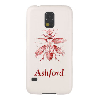 Vintage Insect Image | Beetles | Red Case For Galaxy S5