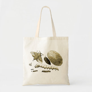 Vintage Insect Image | Silkworm | Moth Tote Bag
