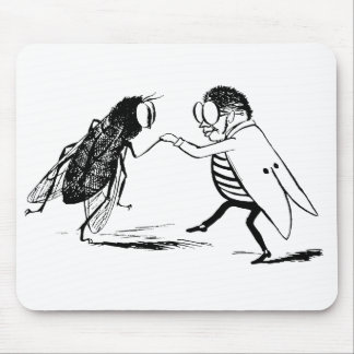 Vintage Insects Dancing; Bluebottle Fly Mouse Pad