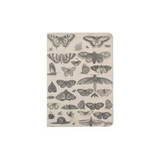 Vintage Insects Entomology Nature Passport Holder