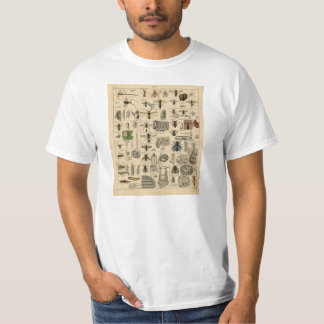 Vintage Insects Entomology Taxonomy T-Shirt