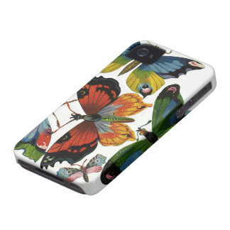 Vintage Insects or Bugs, Beautiful Butterflies iPhone 4 Cover