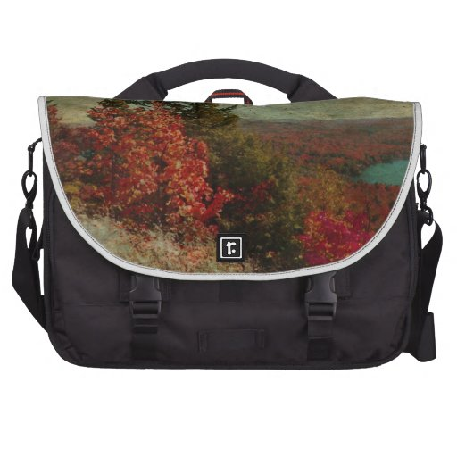 Vintage Inspired Adirondack Mountains Fall Color Laptop Computer Bag