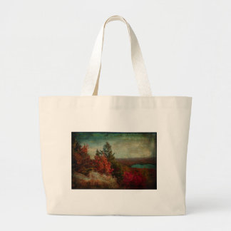Vintage Inspired Adirondack Mountains Fall Color Canvas Bag