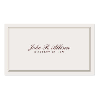 Vintage Inspired Attorney at Law Business Card