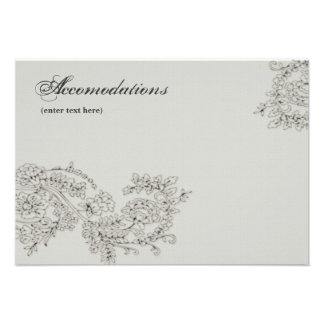 Vintage Inspired Enclosure Cards Personalized Invitations