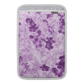 Vintage Inspired Floral Mauve 11 Inch Sleeve For MacBook Air