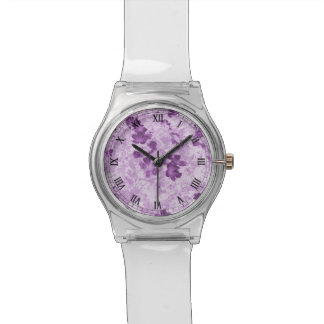 Vintage Inspired Floral Mauve Watch