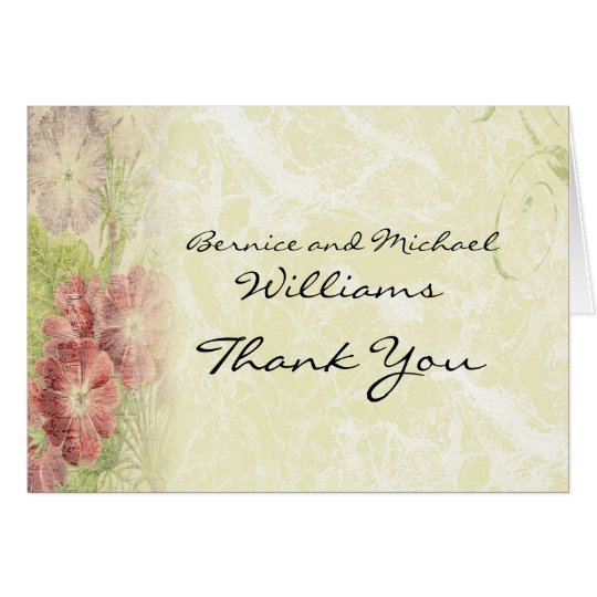 Vintage Inspired Floral Thank You Card