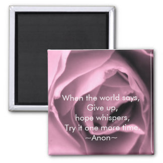 Vintage Inspired Lilac Rose Hope Quote Magnet