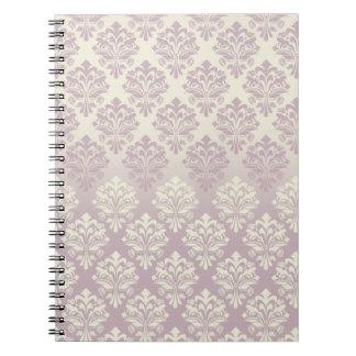 Vintage Inspired Mauve Damask Notebook
