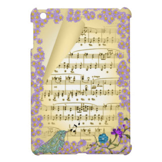 Vintage Inspired Music Theme Bird Flowers Picture Case For The iPad Mini