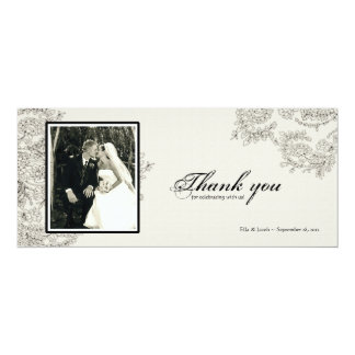 Vintage Inspired Thank You Card | cardstock option 10 Cm X 24 Cm Invitation Card