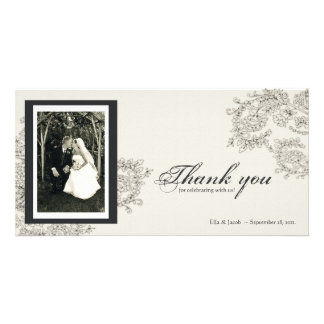 Vintage Inspired Thank You Card Photo Card
