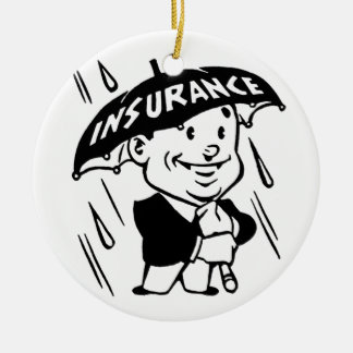 Vintage Insurance Guy Christmas Ornament