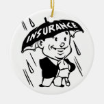 Vintage Insurance Guy Double-Sided Ceramic Round Christmas Ornament