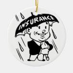 Vintage Insurance Guy Ornament