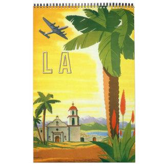 Vintage International Travel Posters Wall Calendar