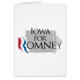 Vintage Iowa for Romney.png Greeting Card