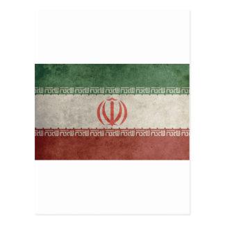 Vintage Iran Flag Postcard